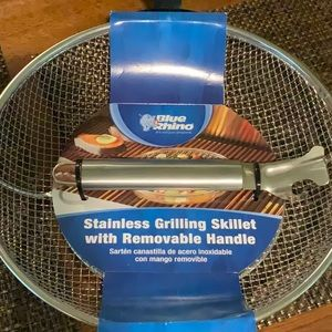 Blue Rhino stainless grilling skillet.